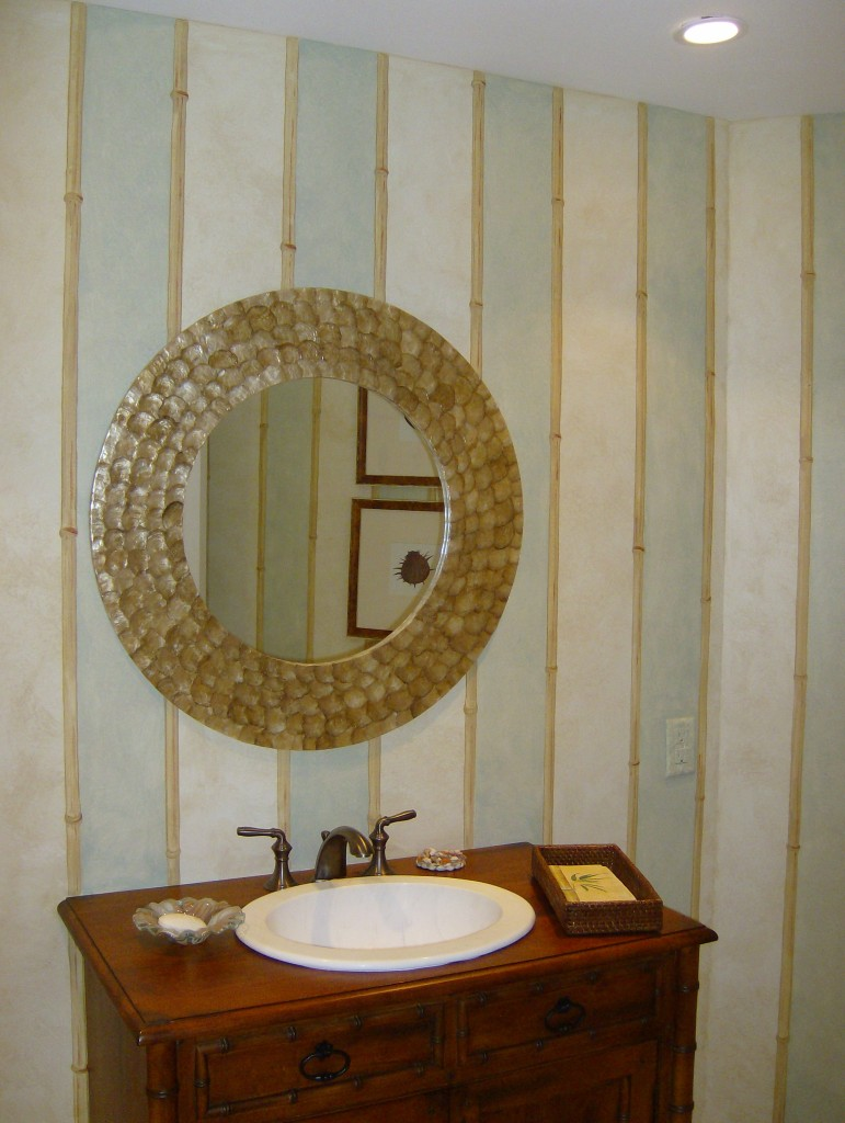 bamboo stripe bathroom