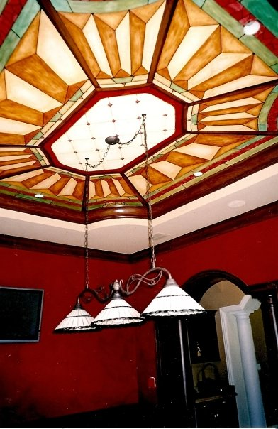 billiard room ceiling