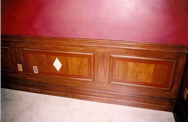 billiard room woodgraining