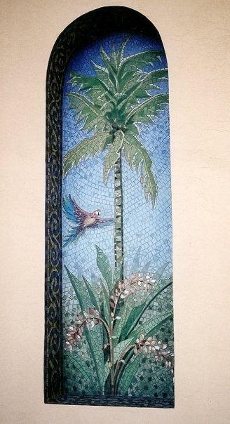 faux mosaic niche