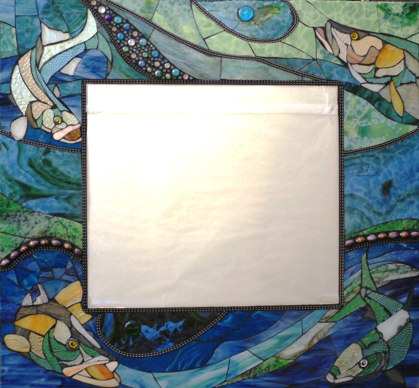 fish mosaic mirror