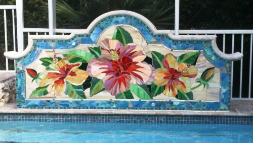 pool mosaic slider