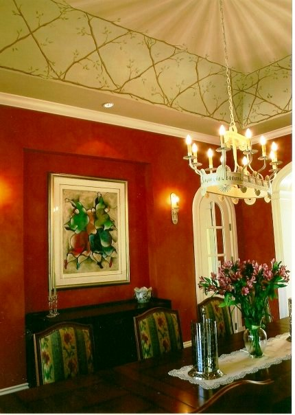 scarlet dining room