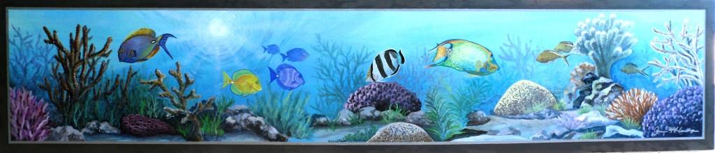 triple net fish mural