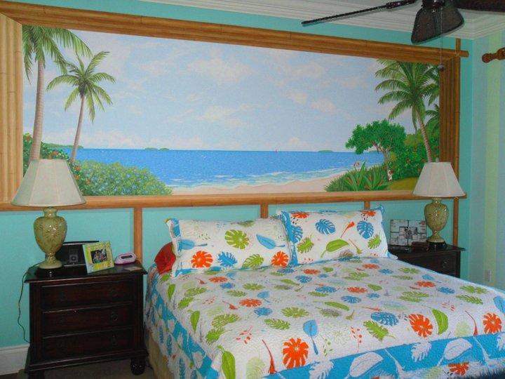 tropical bedroom vista