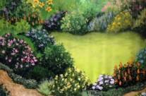 Scenic Garden Backdrop for Theatre