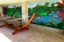 Garden Mosaic by the Pool