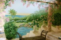 Romantic Bathroom Mural