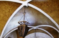 Hammered Gold Groin Vault Ceiling
