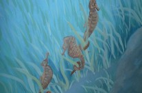 Detail Underwater Stair Mural