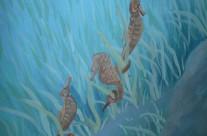 Detail Underwater Stair Mural