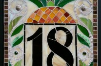 Stained Glass Address Plaque