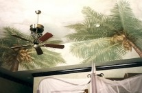 Coconut Palms on Bedroom Ceiling