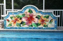 Hibiscus Pool Mosaic