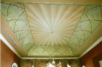 Draped Fabric Dining Room Ceiling