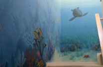 More of Underwater Stair Mural