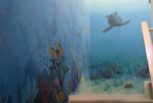 Underwater Stairway Mural